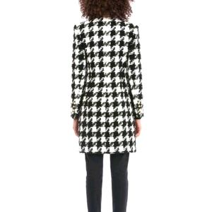 Spanner black and white checkered pattern coat s8